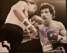 Ray Boom Boom Mancini signed 11x14 photo vs Bobby Chacon WBA Champ 82-84 JSA coa