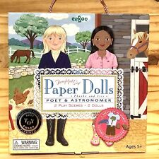New ListingEeboo Phoebe and Iris Thoughtful Girl Paper Dolls Poet And Astronomer (Rare!)
