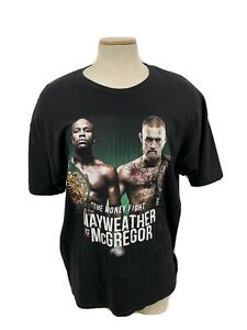 Floyd Mayweather VS Conor McGregor Fight T-Shirt Size Adult 2XL