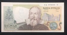 1973 Italy Banca D'Italia 2000 Lira CH Unc. Galileo P103a s/n SA676636N Mr. C
