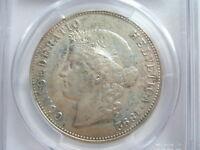 SWITZERLAND 5 francs Franken 1892 B PCGS AU53 SCARCE UNC