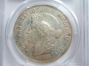SWITZERLAND 5 francs Franken 1892 B PCGS AU53 SCARCE UNC Bern Silver