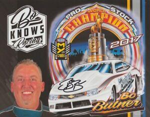 "2018 Bo Butner signed ""Bo Knows Racing"" Chevy Camaro Pro Stock NHRA Hero Card"