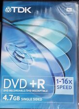 TDK WRITEABLE DVD-R Disc/Disk 4.7Gb 1-16x speed recordable inscriptible Sealed