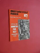MOTORCYCLE RIDER. MAGAZINE. No.12 May-June 1974.