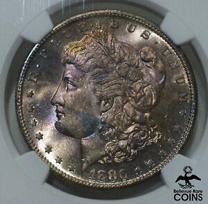 1880-S USA $1 Morgan Dollar Silver Coin NGC MS67 SUPERB GEM UNC! PINK/PEACH HUES