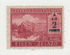 Generalgouvernemet pramienmarke 2 punkte. A 4/9. (115)