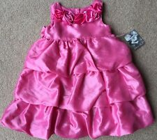 NWT girls size 18 mo Dark Pink Satin 2 pc Easter dress by Jillian's Closet CUTE!