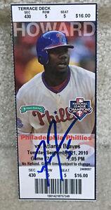Freddie Freeman Autograph 1st MLB HR Ticket Stub 9/21/2010 - Atlanta Braves RC