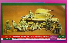 BUM Models 1/72 ITALIAN ARMY AT REST WITH M-13 TANK Metal Figure Set