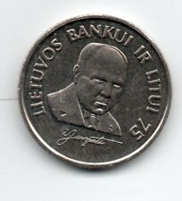 LITHUANIA 1 LITAS 1997 75 YEARS OF LITHUANIAN BANK CuNi KM 109 UNC
