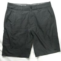 O'Neill Men's Size 34 Casual Shorts Grey Flat Front Chinos Golf Skate Surf