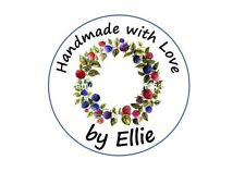 RING OF BERRIES ROUND PERSONALISED STICKY ADDRESS LABELS HANDMADE BY STICKERS