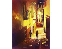 Guanajuato, Mexico watercolor painting.  Fine art print of painting Guanajuato