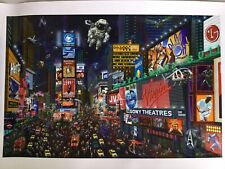Alexander Chen Times Square Panorama Limited Edition Seriolithograph Hand Signed