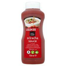 1Ltr Tout Neuf & Emballé Vrac Catering Taille Chaud Sriracha Piment Sauce Poivre