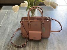 COACH Luxury Mini Surrey Carryall Crossbody Bag Petal Pink F44962 w/ Wallet