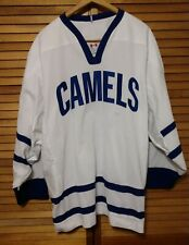 Camels Camel Logo Ccm Adult Size Xl Hockey Jersey White and Blue Made in Canada