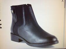 New Women's Roebuck & Co Dot Com Phoebe black leather booties size 8 M