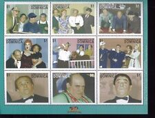 THE THREE STOOGES #2351 MNH Sheet of 9 - Dominica E40