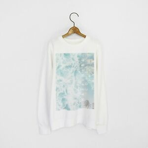 Men's 'Happiness Comes In Waves' Surf Style Sweatshirt - Sizes XS - XXXL