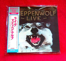Steppenwolf Live SHM MINI LP CD JAPAN UICY-75559