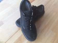 VANS CANVAS BLACK OLD SCHOOL TRAINERS SIZE 8
