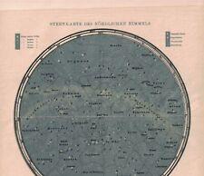 Historische Sternenkarte des Nördlichen Himmels, Lithographie um 1900 (B459)