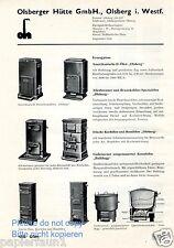 Olsberger Hütte Olsberg Reklame von 1935 Ofen Herd Dauerbrandofen Werbung ad