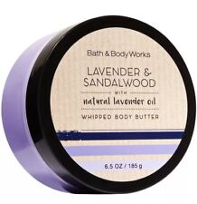 Bath and Body Works LAVENDER & SANDALWOOD Whipped Body Butter ~ 6.5 Fl Oz