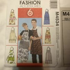 McCalls Apron Sewing Pattern M4534 all sizes Unisex 2004