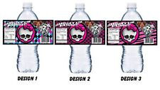 20 MONSTER HIGH PERSONALIZED BIRTHDAY PARTY FAVORS ~ WATER BOTTLE LABELS