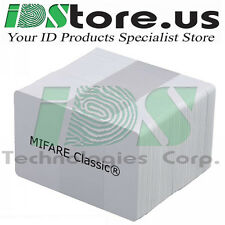 200 MIFARE Classic® 1k Blank White PVC Cards, CR80, 30 Mil,GQ, Credit Card size