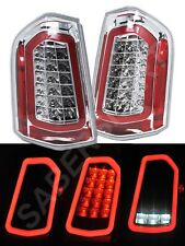 Set of Pair Eagle Eyes Chrome Full LED Taillights for 2011-2014 Chrysler 300