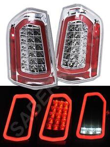 Set of Pair Eagle Eyes Chrome Full LED Taillights for 2011-2014 Chrysler 300