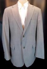 HUGO BOSS Gray Stripe PASOLINI MOVIE US 2-Btn 2-Vent Flat-Front Suit 42 L