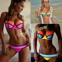 Sexy Women Bandage Bikini Set Push-up Padded Bra Swimsuit Bathing Suit -Swimwear