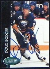 Doug Bodger Buffalo Sabres 1992-93 Parkhurst Signed Card