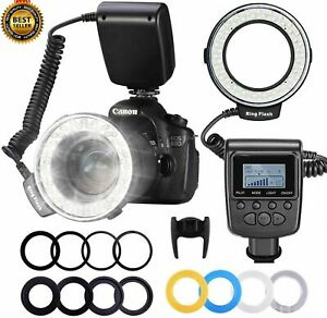 Neewer 48 Macro LED Ring Flash Bundle with LCD Display Power Control