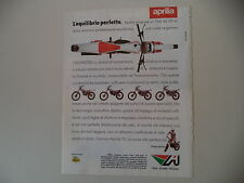 advertising Pubblicità 1985 MOTO APRILIA TRIAL TX 50/125/240/300