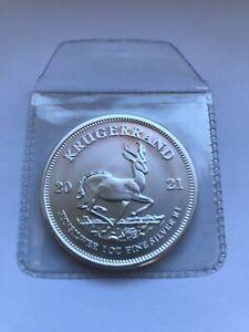 1 Silbermünze: 1 Unze (1Oz)  Krügerrand  2021, Südafrika