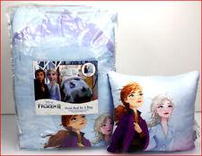 5 Pcs - Disney Frozen 2 Reversible Comforter + SHEET Set + Elsa Pillow ❤️NEW❤️
