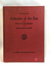 Azimuths of the Sun and Other Celestial Bodies H.O.Pub. No.260 1964 U.S. Navy