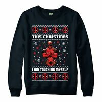 Deadpool Christmas Jumper, Marvel Superhero Festive Gift Adults & Kids Jumper