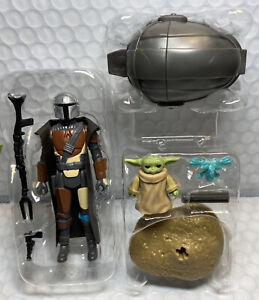 """Star Wars Retro Collection The MANDALORIAN & The CHILD 3.75"""" Figures LOOSE"""