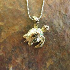 Hawaiian Jewelry Golden Turtle Pendant  SP94205