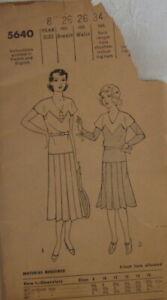 Antique Juniors Frock Dress Sewing Pattern  # 5640