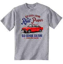 VINTAGE CZECH CAR SKODA 110R - NEW COTTON T-SHIRT