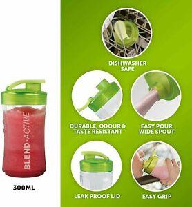 2pc Breville Blend Active Spare 300ml Bottle BPA Free Green VBL109 Blend & Go