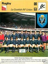 FICHE CARD: Tournoi des 5 Nations 1977 France-Ecosse 23-3 Photo Equipe RUGBY 70s